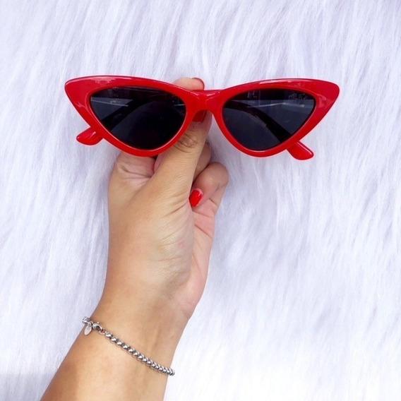 Óculos De Sol Cat Eye Gatinho Pequeno Retro Vintage Moda