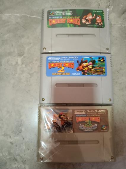 Trilogia Donkey Kong Super Nintendo