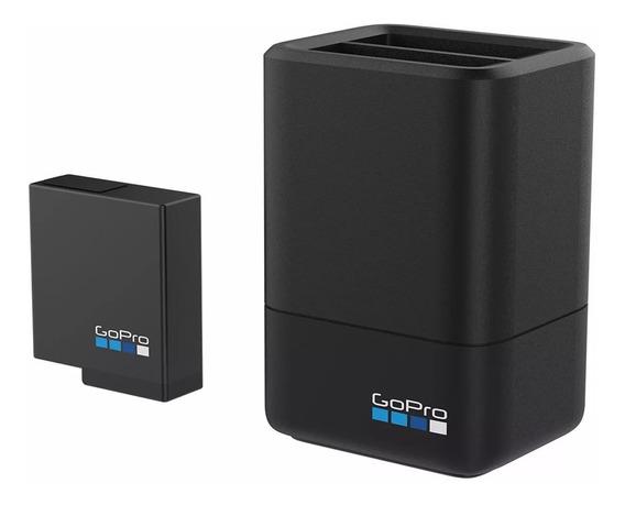 Gopro Carregador Dual Original +bateria Hero 5 6 7 Aadbd-001