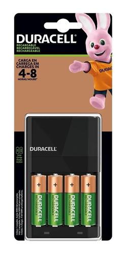 Imagen 1 de 3 de Pack 4 Pilas Duracell Recargables Aa + Cargador