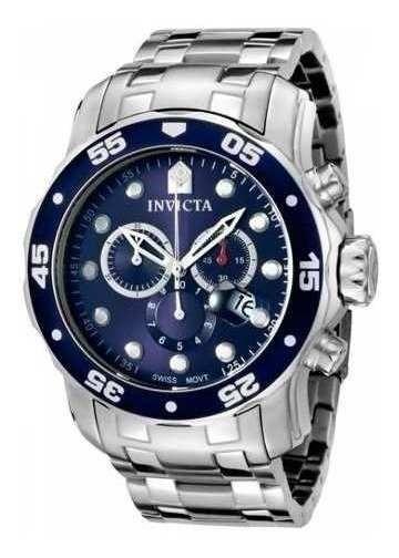 Relógio Masculino Invicta 0070 21921 Prata Azul Original
