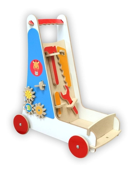 Carrinho De Ferramentas Em Madeira Toptoy Brasil Brinquedos