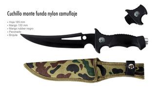 Cuchillo Monte Caseria Militar Campismo Funda Camuflaje 0888
