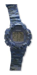 Reloj Pulsera Digital Alarma Luz Cronometro Camuflado 29395