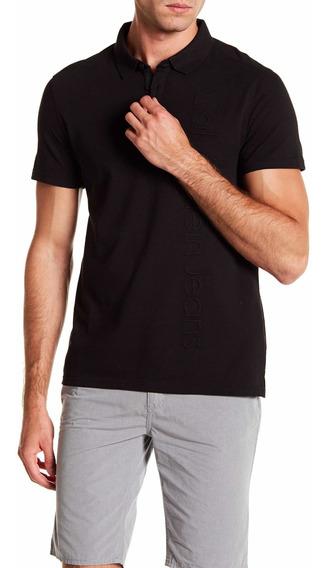 Playera Polo Calvin Klein Jeans Logo Vertical Original