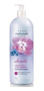 Loción Crema Para El Cuerpo Avon Vibrante Orquídea Y Blueber