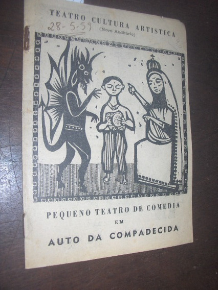 Auto Da Compadecida 1959 Teatro Cultura Artistica