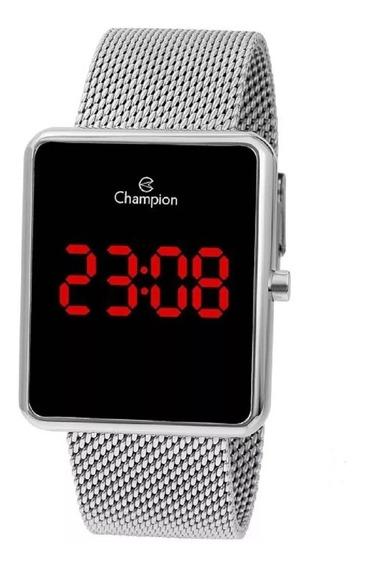 Relógio Champion Unissex Digital Ch40080t Prata Quadrado