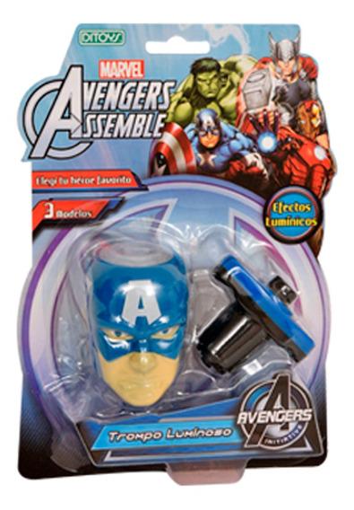 Trompo Luminoso Avengers Capitan America Original Ditoys