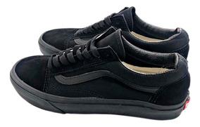 e1eb4ab5 Vans Old Skool All Black Tenis Zapatillas Importadas Hombre