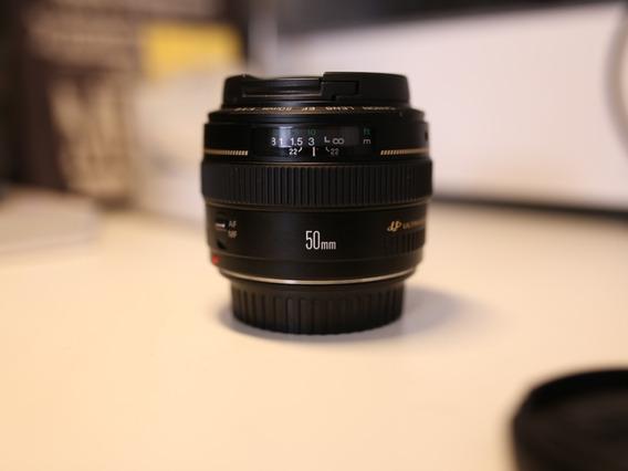 Lente Canon 50mm F/1.4 Usm Comprada Na Canon Com Garantia !