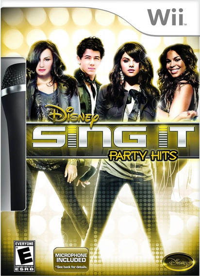 Jogo Lacrado Disney Sing It: Party Hits Pra Nintendo Wii