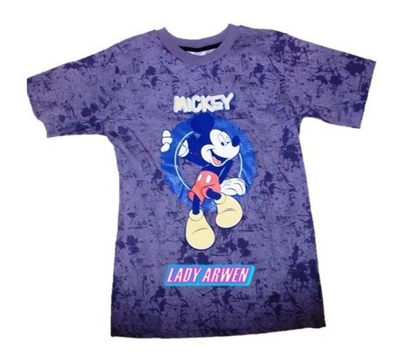 Mickey Mouse Playera Gris Camiseta Unisex Niño Niña Original