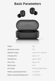 Fone De Ouvido Bluetooth Qcy Qs2 T2c Pronta Entrega No Brasi