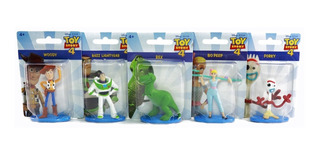 Set 5 Figuras Toy Story 4 Coleccion Buzz Woody Forky Rex Bo