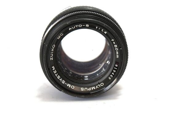 Lente Olympus 50mm 1.4 Retro Coleção Retirada De Peça