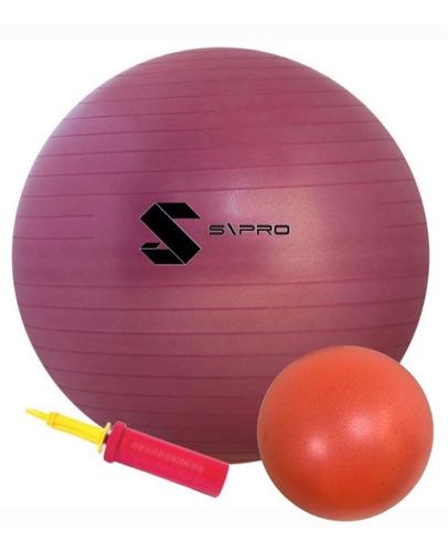 Bola De Pilates (suiça)  65cm + Bomba + Softball