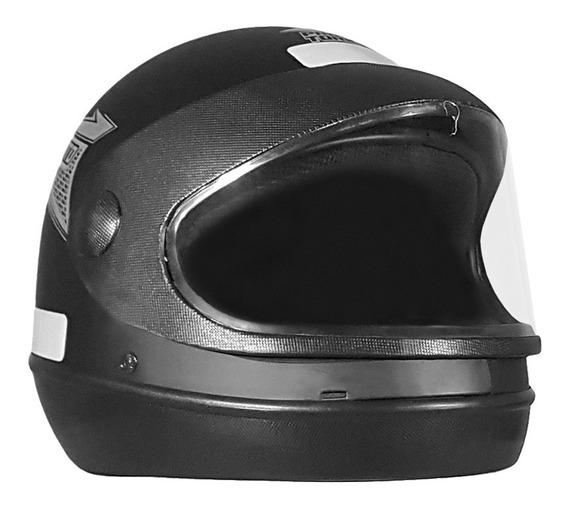 Capacete Moto Fechado Protork Sport Preto Fosco 58/60