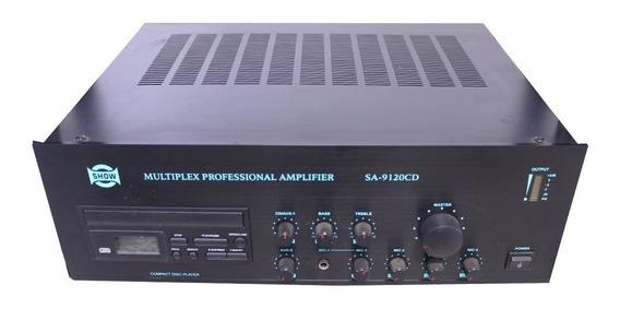 Amplificador Som Ambiente Csr Sa9120cd 120w De 4/8/16 Ohms