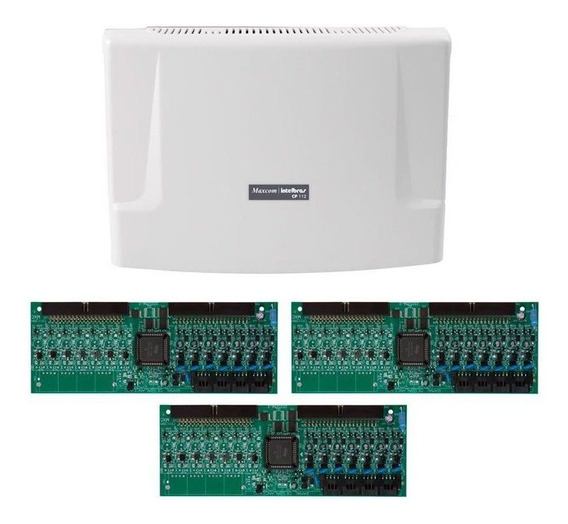 Kit Central Comunicação Intelbras Cp 112 Placa 48 Ramais Tf