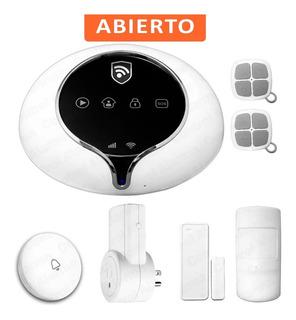 Wifi Alarma Kit 4 Gsm 4g Cel Seguridad Alerta Casa Vecinal
