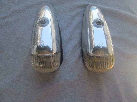 Lanterna Externa Teto Caminhão Mercedes Benz Cromada Par