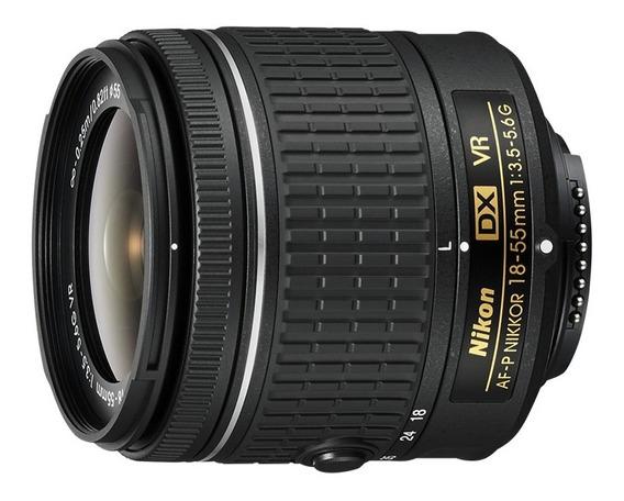 Objetiva Af-p Dx Nikkor 18-55mm F/3.5-5.6g- Nikon- Sem Cx