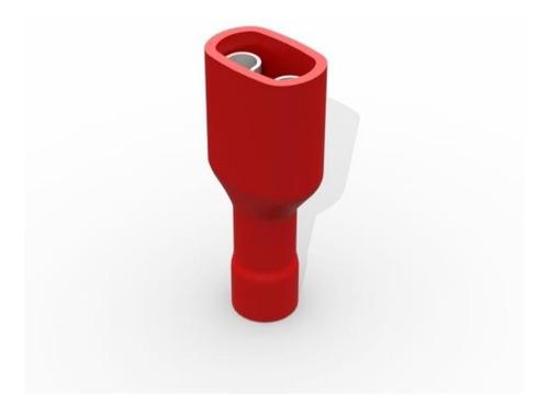 Imagem 1 de 1 de Terminal Fêmea 6,3 T Isolado Vermelho 0,5 A 1,5mm (200 Pçs)