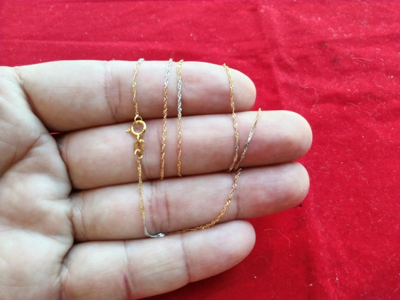 Dione Joias Corrente 50cm 3 Cores Ouro 18k 750 Ref 02