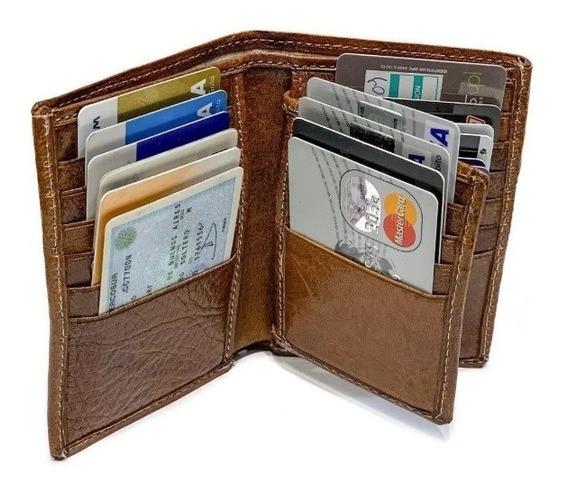 Porta Documentos Cuero Hombre Billetera Tarjetero