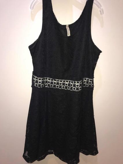 Vestido Negro Para Fiesta Camico Talle L (12 A 14 Años)