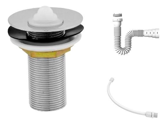 Kit C/válvula P/lavatório 7/8 + Sifão + Flexível
