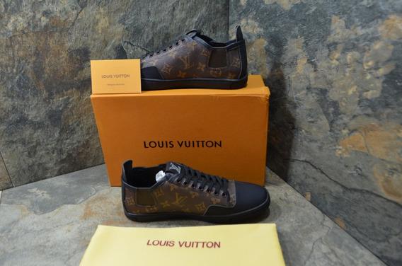 Sneakers Louis Vuitton Monogran Café, Envío Gratis