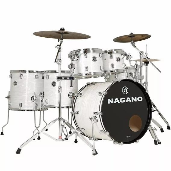 Bateria Acústica Nagano Concert Full Celulloid Bw White