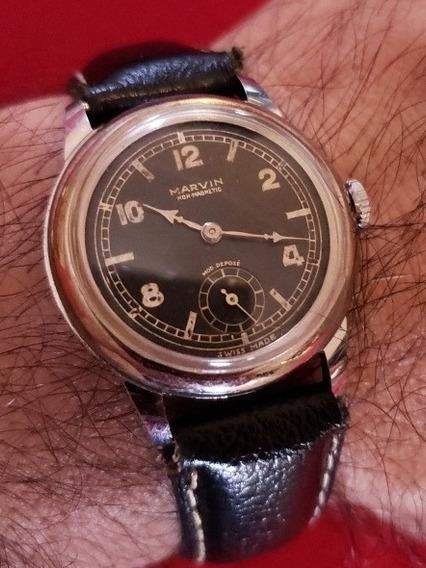 Relógio Militar À Corda Manual Marvin 1945