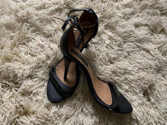 Sandália Salto 8cm Couro Anna Flynn 36