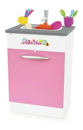 Pia Infantl Super Clean Rosa Em Madeira  Junges