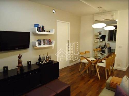 Apartamento Com 2 Dormitórios À Venda, 78 M² Por R$ 475.000,00 - Santa Rosa - Niterói/rj - Ap1200