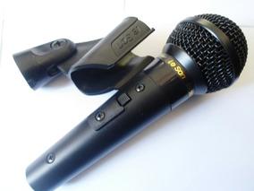 Microfone Leson Profissional Sm58 P4 Preto