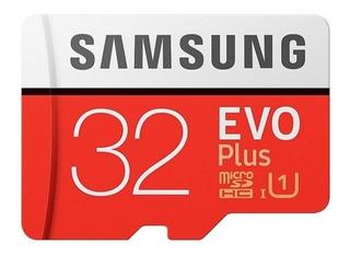 Cartão Micro Sd Samsung Evo Plus 32gb C10 95mbs Lacrado +ada