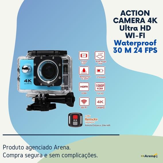 Action Camera 4k Ultra Hd Wi-fi Waterproof 30 M 24 Fps