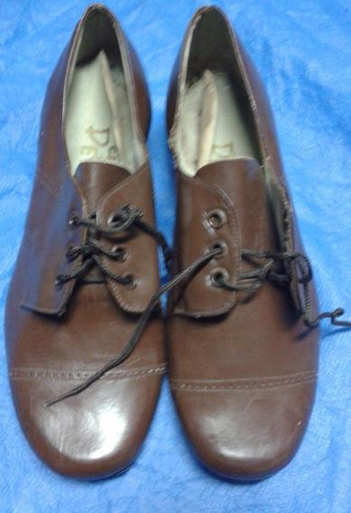 Vintage Calzado Niño Petreca N°32 Suela De Goma