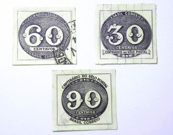 Centenário Olho De Boi - Rhm 180 A 182 - Usados
