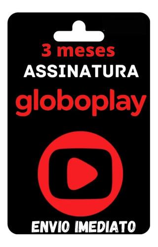 Gift Card Globoplay Assinatura 3 Meses