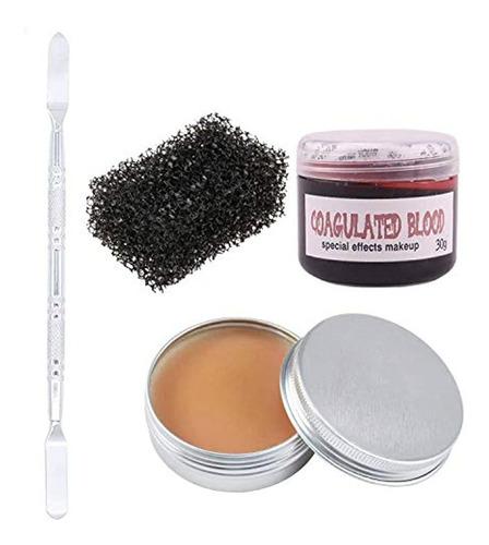 Cera Para Maquillaje-efecto Especiales,color Piel.marca Pyle