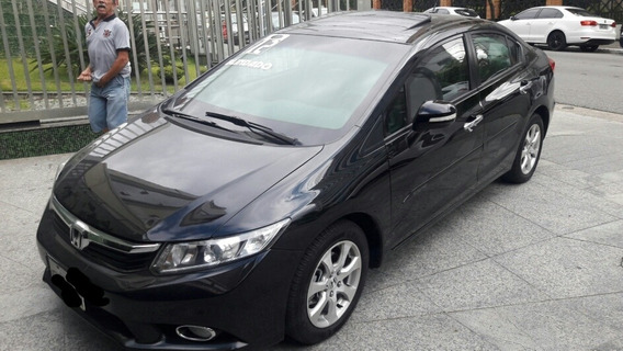 Honda Civic 1.8 Exs Flex Aut. 4p Blindado Preto 2012 Blinda