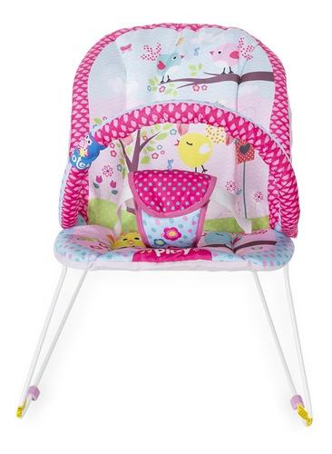Cadeirinha Cadeira De Descanso Bebe Musical Jardim Rosa