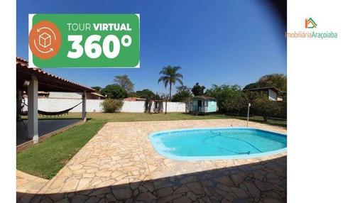 Imagem 1 de 30 de Chácara Em Araçoiaba, Jardim Salete Com Tour Virtual - Ch0229