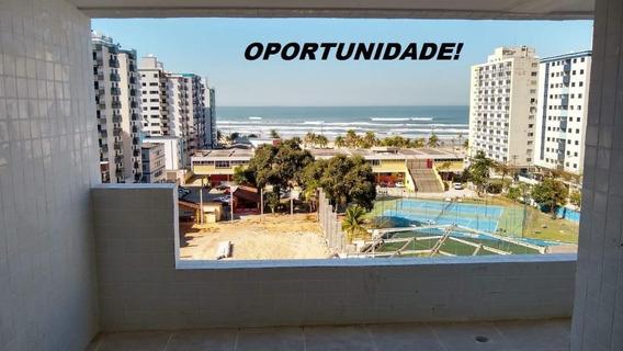 Apartamento Novo Com Vista Do Mar 3 Dormitórios À Venda, 87 M² Por R$ 320.000 - Cidade Ocian - Praia Grande/sp - Ap2960