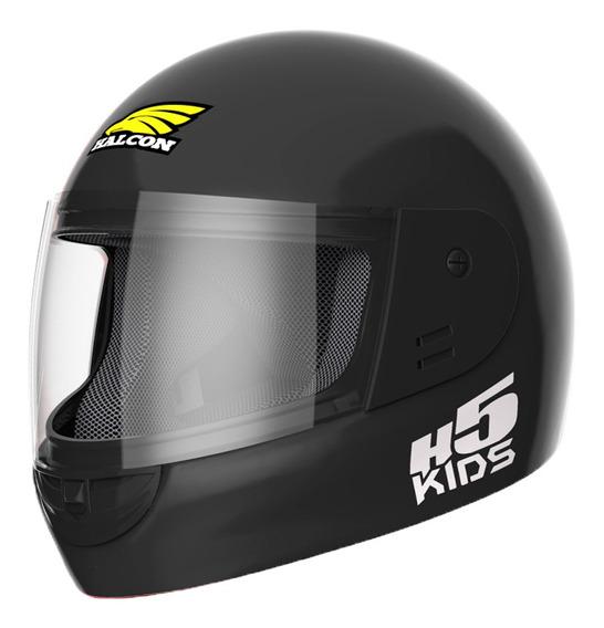 Casco Moto Niño Halcon H5 Kids Integral Negro Tienda Oficial